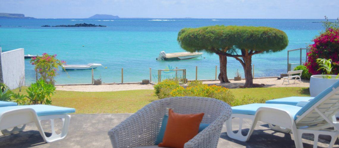 villa Cap Point-ile maurice- vue de la terrasse