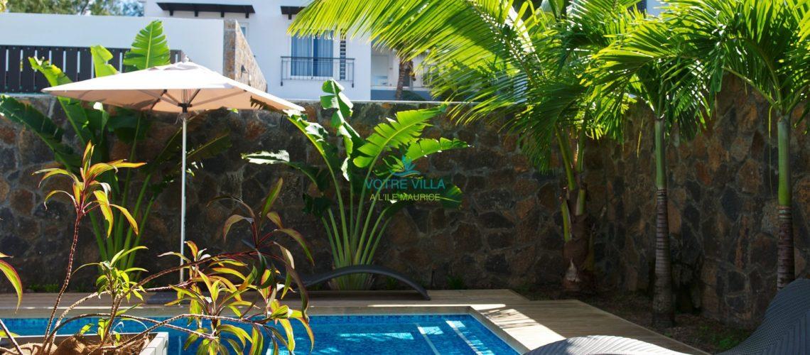 Plage Bleue-Ile Maurice-piscine villa